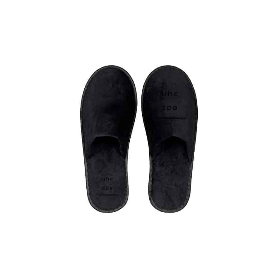 spa slippers [black]
